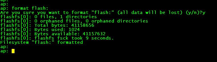 Re-imaging Cisco Access Points